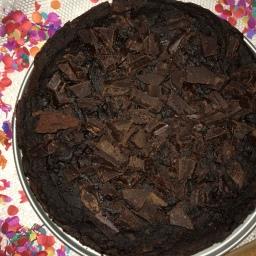 Chocoladetaart met zwarte bonen en cake met kidneybonen